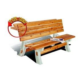 2x4basics sand polyresin table brackets outdoor fun for Flip top picnic table plans