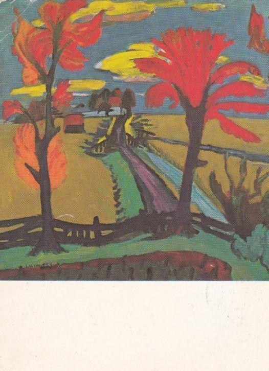 Jan Wiegers (1893-1959) Hoewel De Ploeg als vereniging bleef bestaan en nog steeds bestaat ligt haar kunsthistorische betekenis in de jaren twintig, toen binnen haar gelederen achtereenvolgens een expressionistische en impressionistische richting tot ontwikkeling. In de jaren twintig en dertig werden diverse leden beïnvloed door het Duitse expressionisme van Die Brücke.