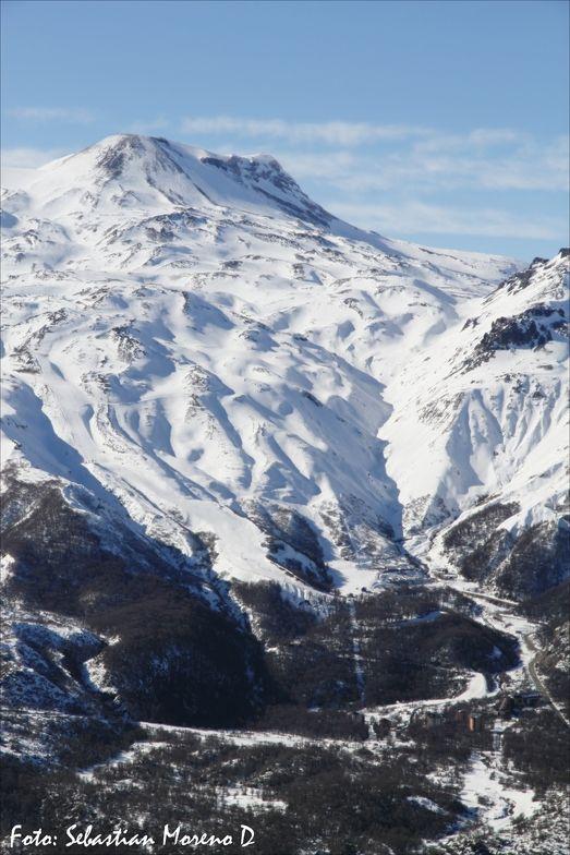 Con un desnivel vertical de 870 metros, Nevados de Chillan, Chile
