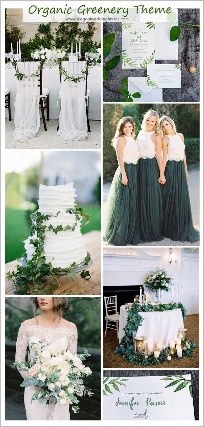 simple but stylish organic inspired greenery garden wedding ideas