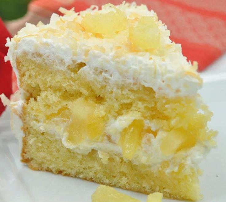 Pina Colada Birthday Cake