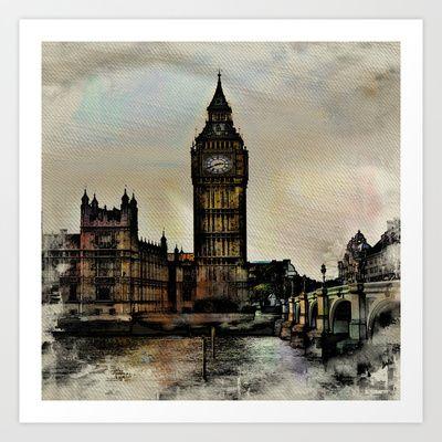 Big Ben Art Print by AngelEowyn - $17.16