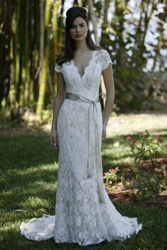 """Dress for ceremony for vow renewal in the redwood forest in Humboldt. LOVE."" Not my sort of wedding/vow renewal style, but I adore the dress and absolutely must try the hair."