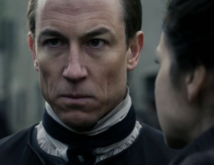 """Episode 212 """"The Hail Mary"""" of Outlander Season Two on Starz outlander-online.... with Tobias Menzies as Jack Randall and Caitriona Balfe as Claire Fraser"""