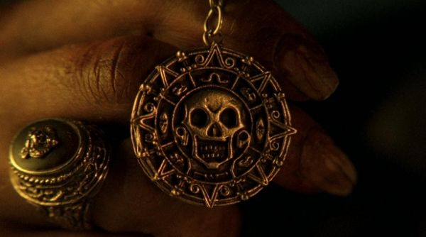 Cursed Aztec Gold Medallion