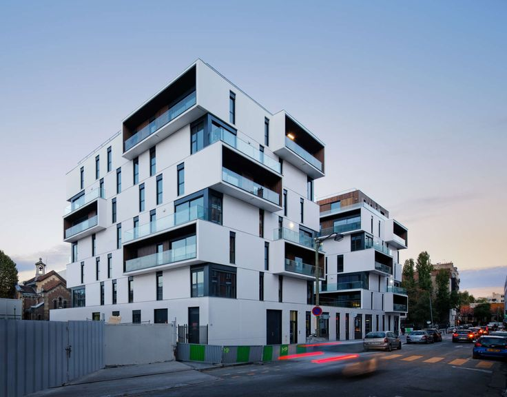 The architectural choice  The project brings together 86 housing units and a home for autistic workers. It unfolds on three plots implanted on a common bas...