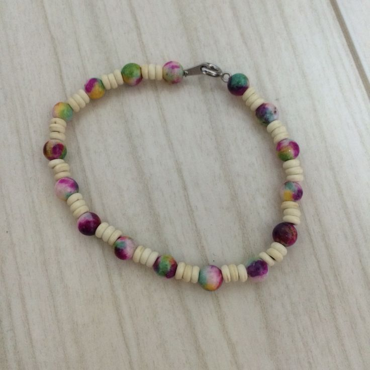bracelet made with beads and stones