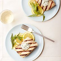 Grilled Mahi Mahi with Lemon-Herb Aioli