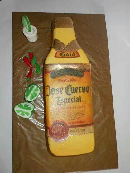 Torta José Cuervo 100 % Comestible.