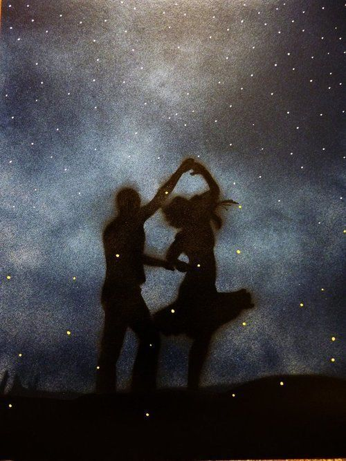 Dancing... twirling... starry night... captivating.