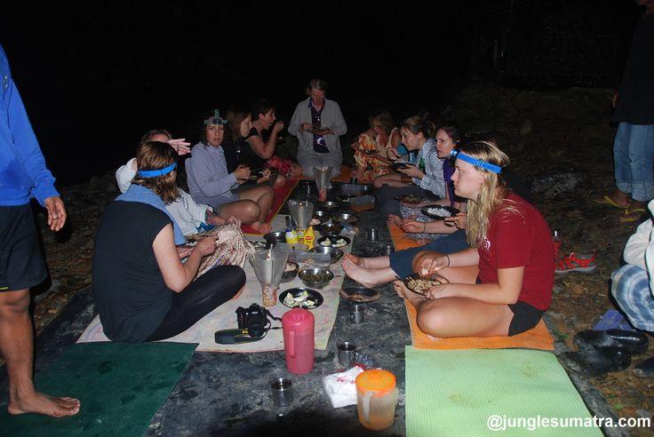 Bukit Lawang Jungle Trekking | Dinner at Jungle Sumatra with a team of junglesumatra.com