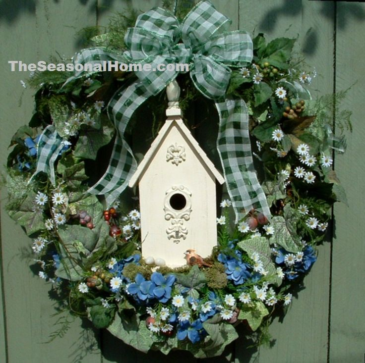 Backyard Ideas For Spring Decorating 6 Tips To Make: 17 Best Images About Birdhouse Wreaths On Pinterest