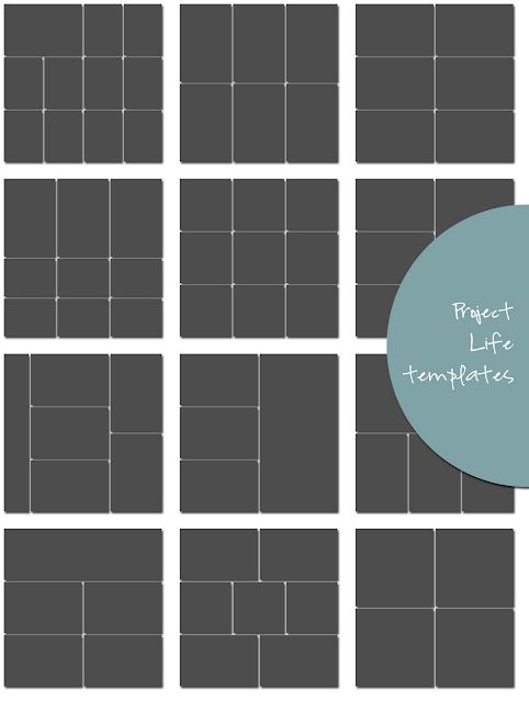 crashnotes: project life...in progress. 12 different styles of project life design protector templates so you can resize everything in Photoshop before printing out. Fabulous!