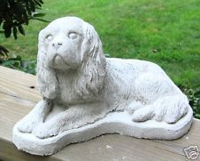CONCRETE CAVALIER KING CHARLES DOG STATUE / MONUMENT