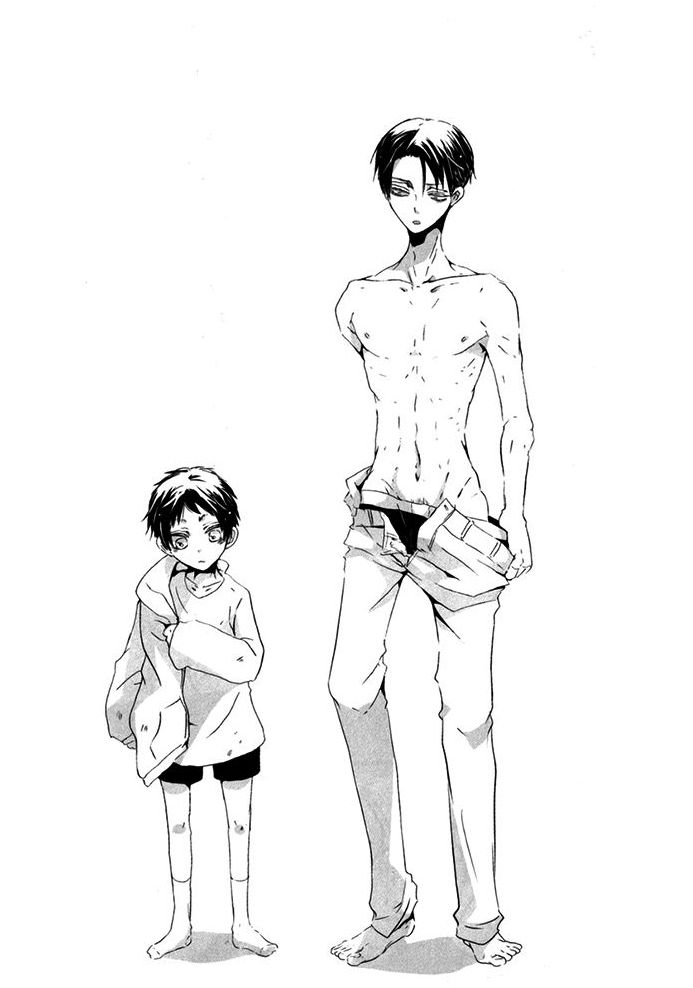 Levi and Kid!Eren