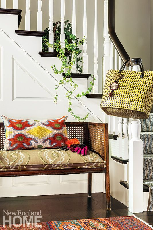 Closets, Hallways & Corridors | New England Home Magazine | Boho Luxe