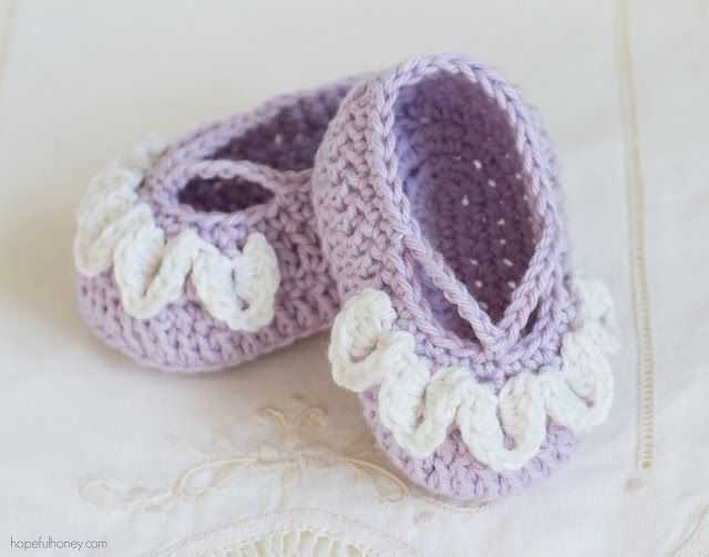 Sugar Plum Fairy Baby Booties -  Giveaway + Crochet Pattern