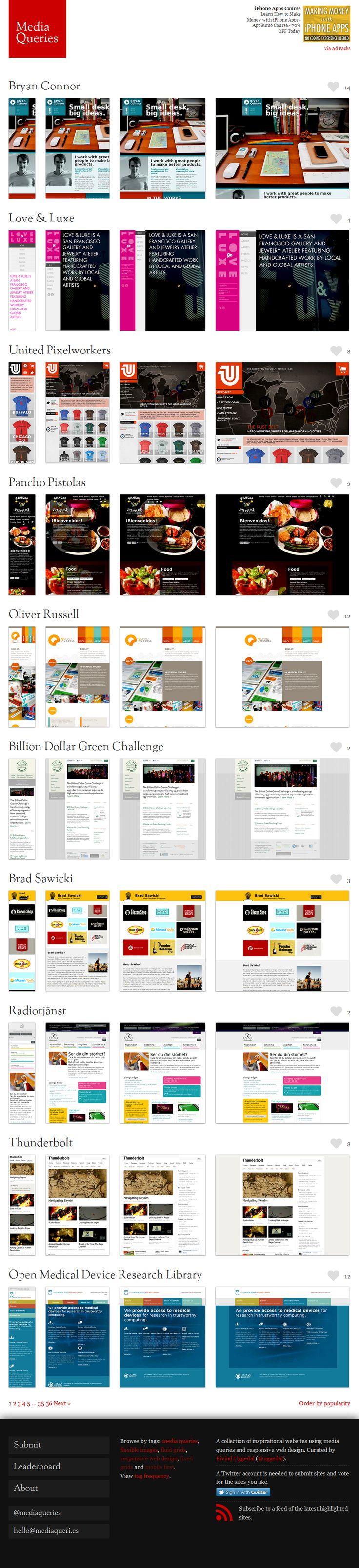 [ Responsive Design ] Mediaqueri.es
