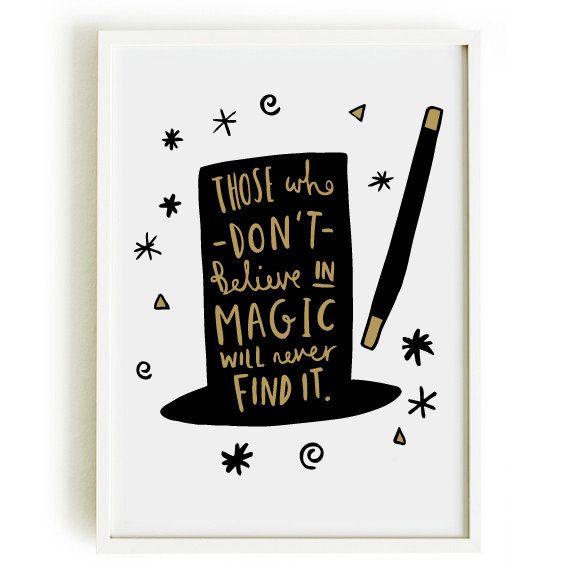 A4 Magic Print - Roald Dahl Quote Print - Motivational Print