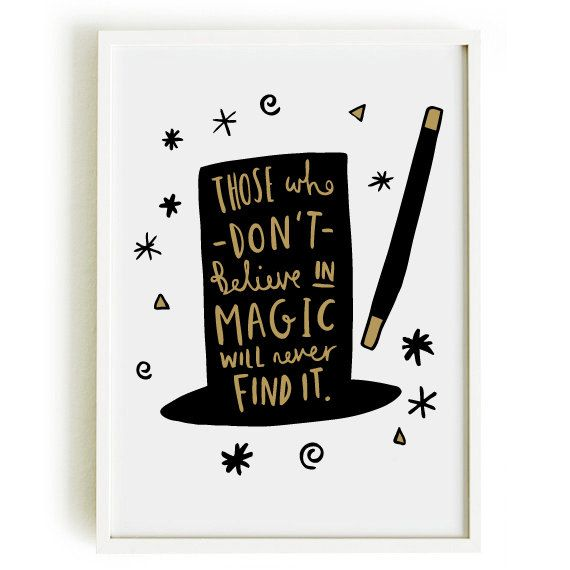 A4 Magic Print - Roald Dahl Quote Print - Motivational Print