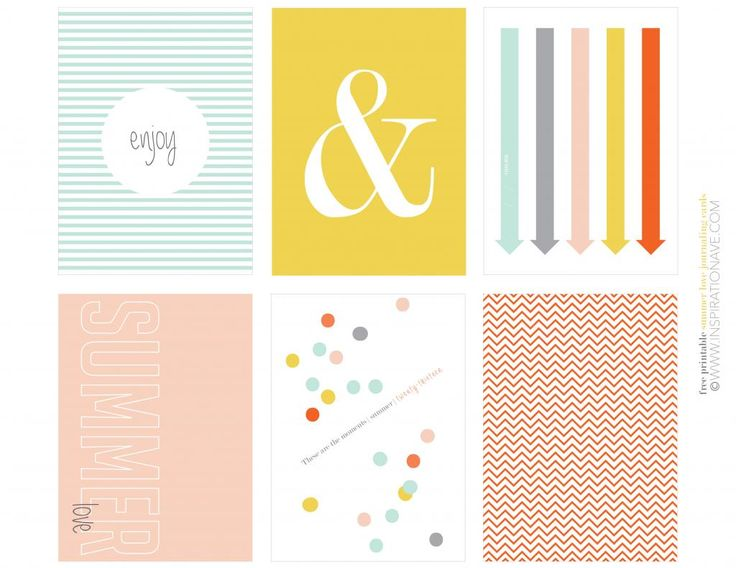 Free printable Project life journaling cards from www.Inspirationave.com