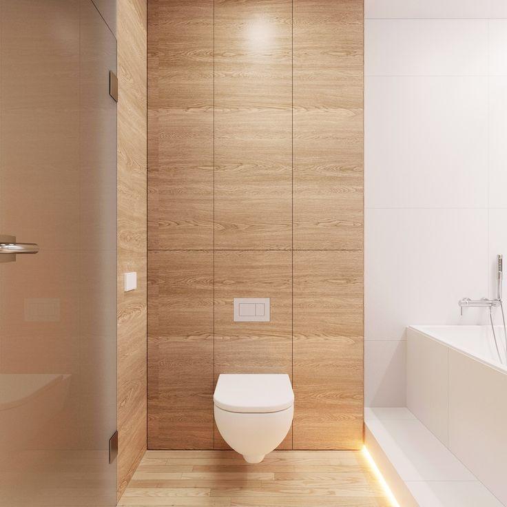 interior pj_lublin_poland on Behance Классно, что есть ванная. И вообще опять же сочетание цветов - более светлый паркет и более темные тона стен. Это уже было в другой работе - более светлый пол и более темный шкаф.