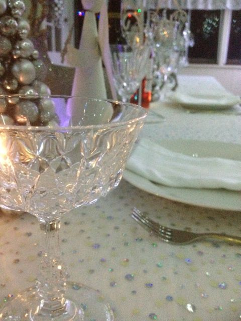 Christmas Tablescape in silver