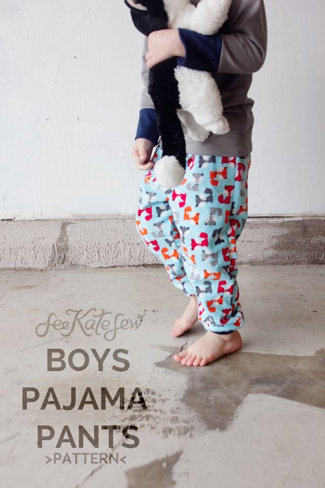 FOX PJS! // Boys Pajama Pants Pattern + Applique - see kate sew