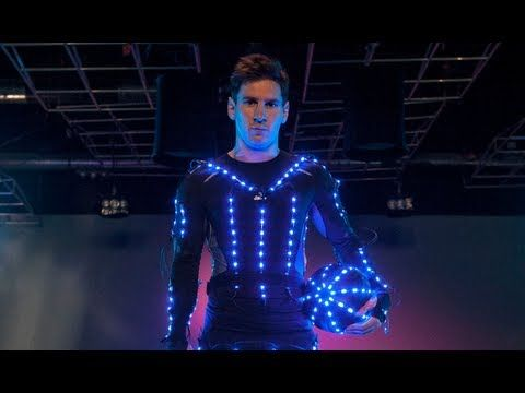 ▶ The New Speed of Light - adidas Football: Soccer superstar Lionel Messi turns into 'Tron'! http://www.imaging-resource.com/news/2013/08/06/watch-soccer-superstar-lionel-messi-turn-into-tron-in-this-high-speed-light #Video #High_Speed #Advertising