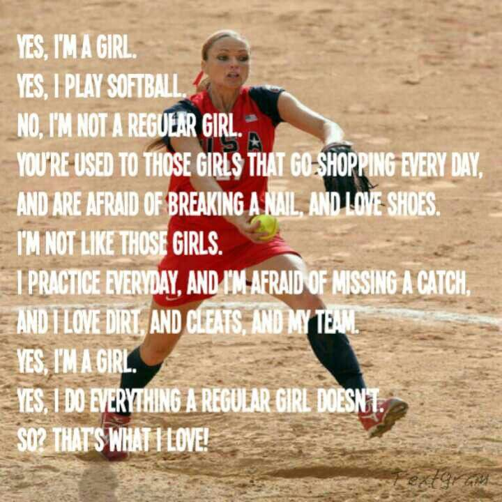 My life is SOFTBALL!!!! I love the sport so I don't care if u don't like it so deal with it