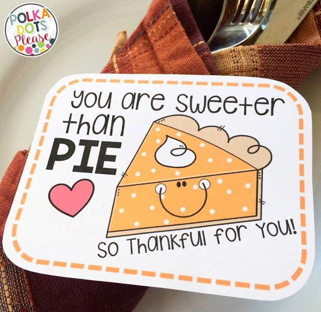 What an adorable Thanksgiving themed freebie from Polka Dots Please!