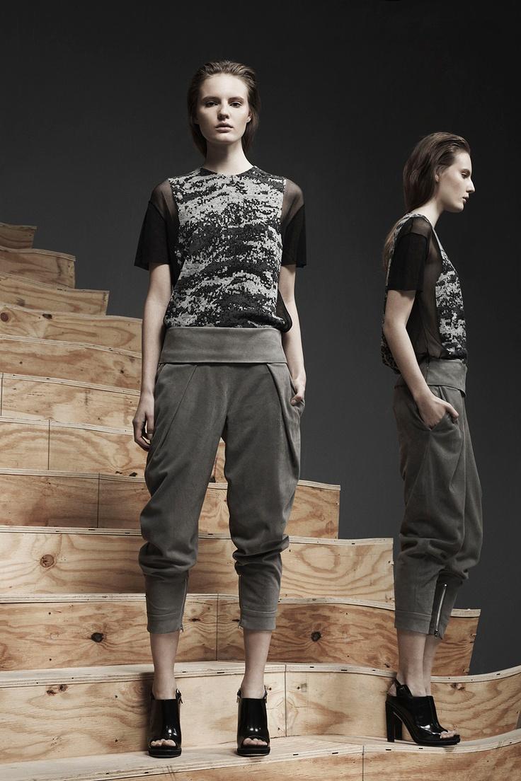 Grunge top Alexander Wang Pre-Fall 2013 #style #fashion