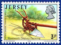 Jersey 120 Stamp - Potato Digger Stamp - EU J 120-1 MNH