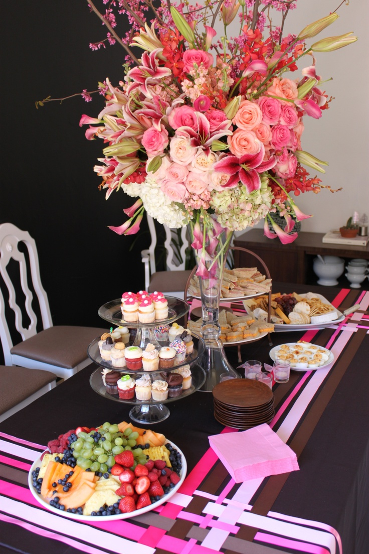 Pretty Baby Shower Tablescape Table Buffet 39 S Pinterest