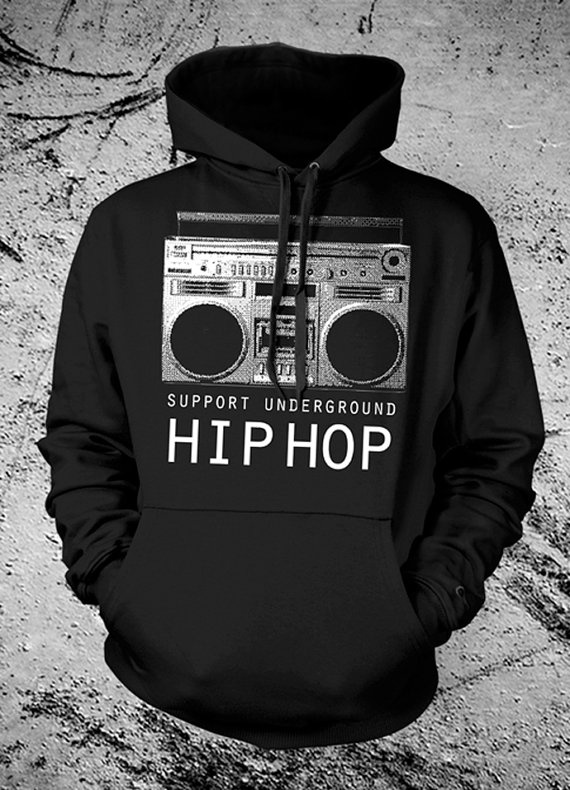 Love it! Underground HipHop Music Hooded Sweat Shirt by ObscenePrints, $30.00