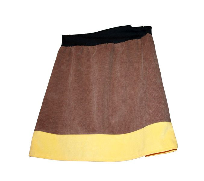 CORDROCK braun skirt brown sewing Hüftrock Umstandsrock brauner Rock von Handmade Erzgebirge auf DaWanda.com