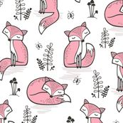 Dreamy Fox in Pink by caja_design