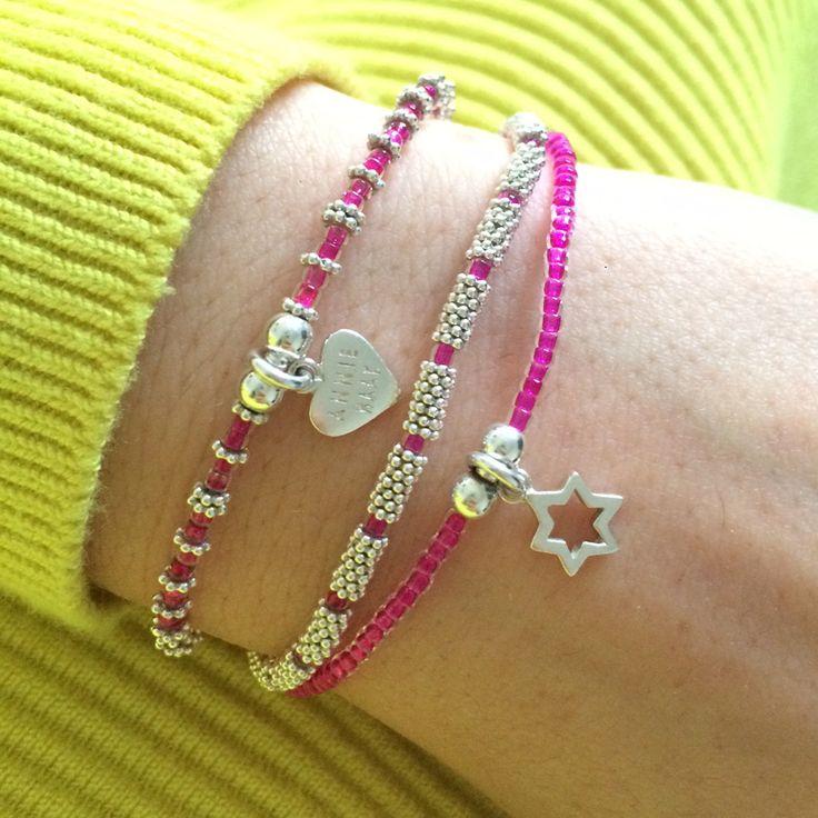 Bright is best wit h#AnnieHaaks Ria Trio 3 Strand Bracelet