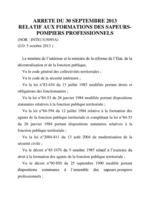 GAYRAUD DOMINIQUE ARRÊTÉ FORMATION SAPEUR POMPIERS