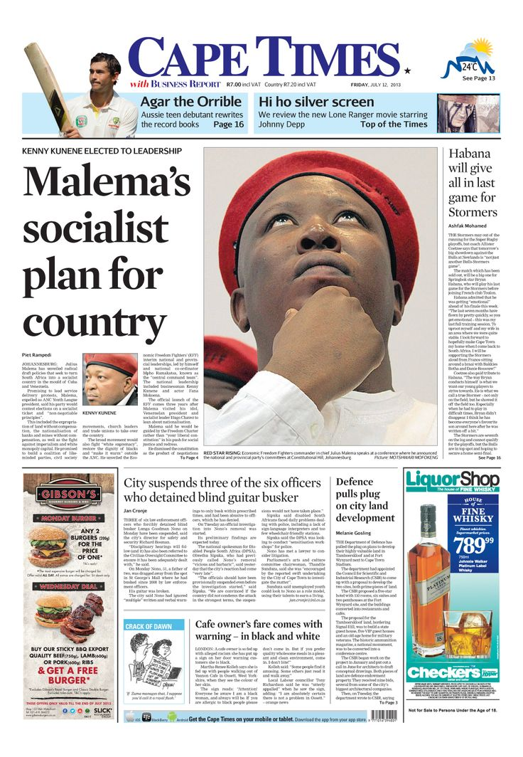 News making headlines: Malema's socialist plan for country