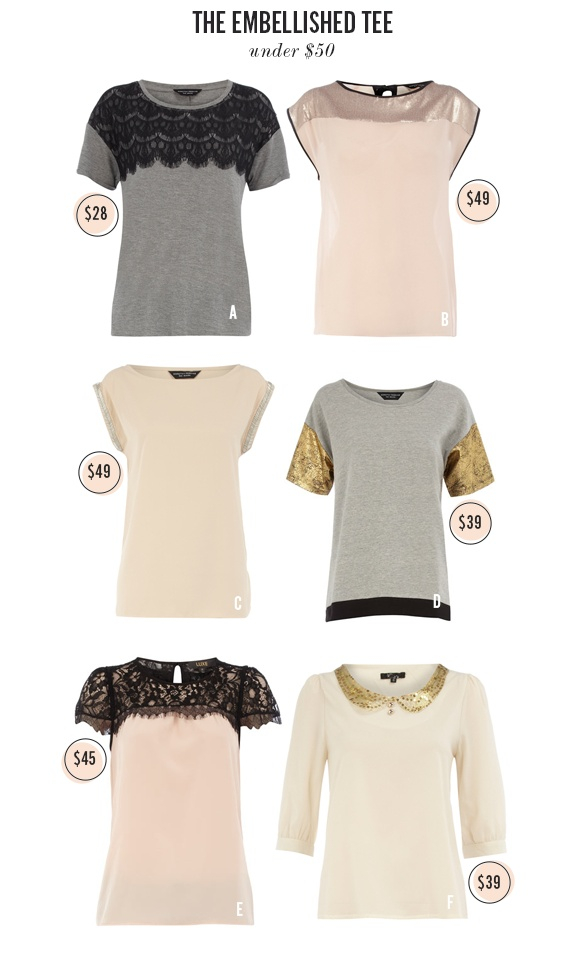 the embellished t