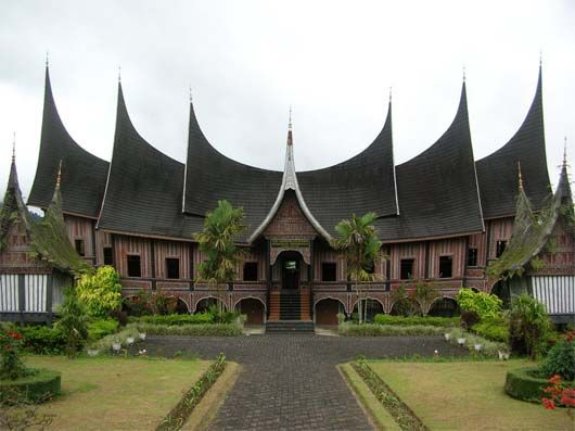 Rumah Gadang - traditional house from West Sumatera