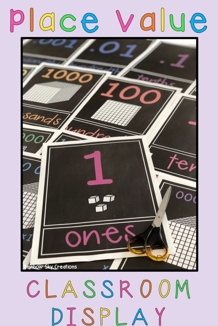 These place value posters make a fantastic & practical display for your classroom. This printable place value chart comes with digit cards to use as an interactive resource. Use to demonstrate expanded form (expanded notation), record numbers in numeral and word form & develop an understanding of how our number system works. Posters range from thousandths to billions (whole numbers & decimals). The perfect wall or anchor chart for kids. {3rd Grade, 4th Grade, 5th Grade, 6th Grade homeschool)