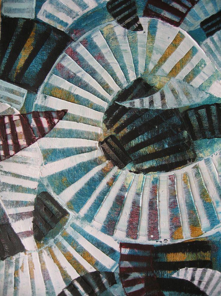 Life VII-acrylics on canvas pad