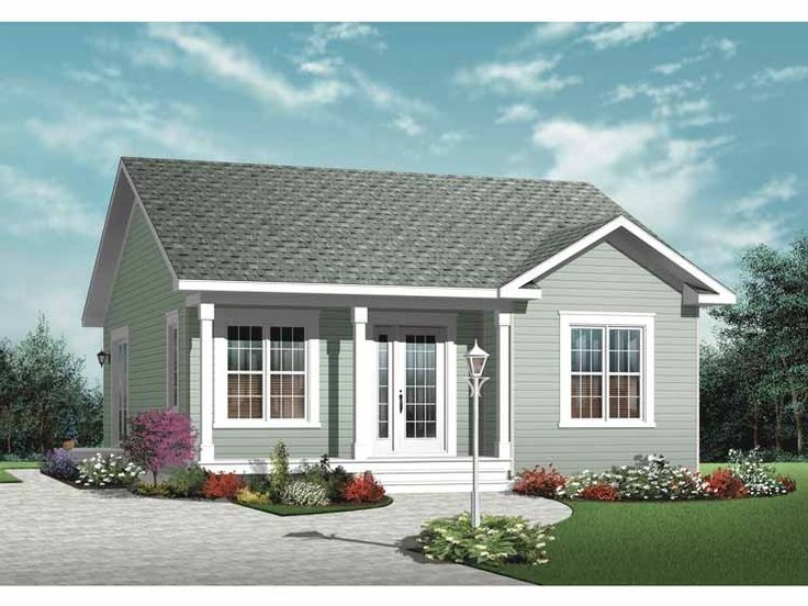 country house plan with 835 square feet and 2 bedrooms