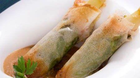 Recetas saludables para el verano: Bricks de jamón, queso y espárrago. ¡Buenísimos!