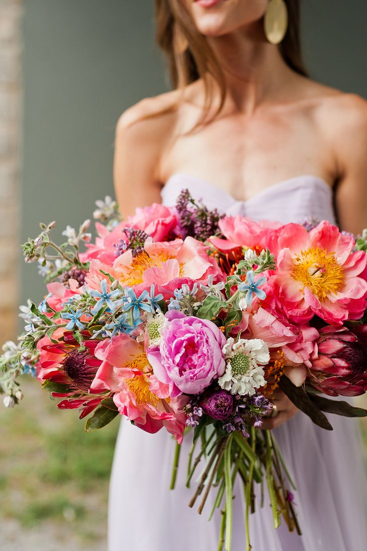 Check Out This Stunning Wedding Bouquet You Can DIY Yourself via Brit + Co