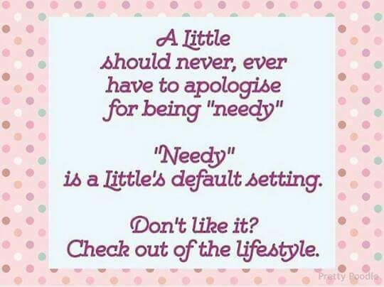 True to all Littles who always feel this way