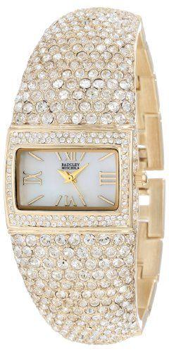 Badgley Mischka Women%27s BA%2F1154MPGB Swarovski Crystal Covered Gold-Tone Bangle Watch                                                                                                                                                      Más