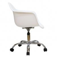 Esta silla, conocida como PACC (Pivot Armchair Cast base on Casters), es ideal para una oficina, o un home office contemporáneo. Es de altura ajustable, giratoria, y con ruedas. Su base de estrella de 5 puntos en aluminio pulido es muy resistente y el asiento super cómodo gracias a sus formas redondeadas. Silla giratoria de oficina Base en fundición de aluminio de 5 estrellas. Asiento Sólido de color polipropileno. Asiento en polipropileno.Base mecanismo multifuncional.Color: NE - BL - RO…